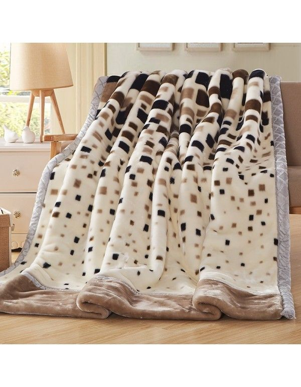 Adult single living room bed pattern Blanket Quilt Raschel thickened leopard pattern winter home dormitory single quilt