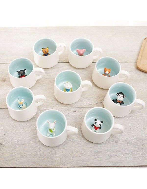 Creative ceramic mug cute...